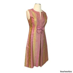 Dresses & Skirts - Vintage ANNA SUI Metallic Gold and Pink Dress